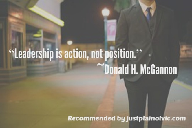 leadership is..quote