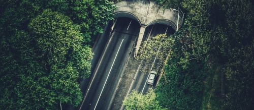 car and tunnel