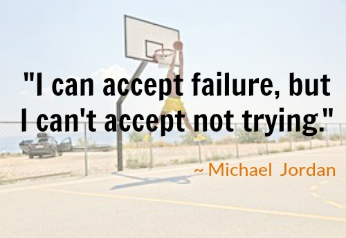 failure not trying michael jordan basketball