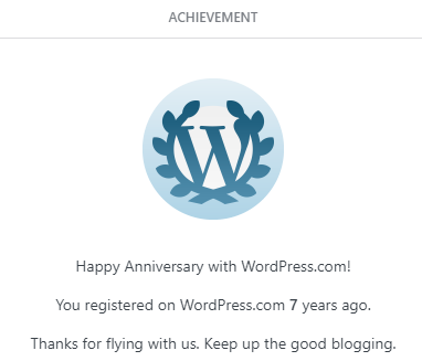 7 year wordpress aniversary